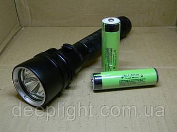 Подводный фонарь Deeplight X3 на трёх диодах Cree XM-L215W под 18650