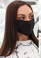 """Многоразовая классическая маска для лица """"Черная"""""""