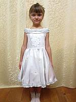 Белое легкое платье Снежинки на утренник на прокат