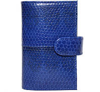 Визитница из кожи морской змеи.EXCLUSIVE SNCH 18-1 Dark Blue