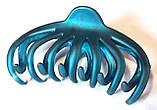 Краб для волос каучуковый большой 11х7 см бирюзовый, фото 2