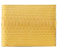 Портмоне из кожи питона. EXCLUSIVE PT 60 Yellow