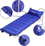 Самонадувающийся коврик KingCamp Base Camp XL(KM3559) (navy blue), фото 4