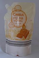 Жидкое крем мыло для рук Мед Молоко Ombia 750ml Германия
