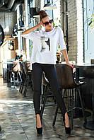 Леггинсы женские, цвет: черный, размер: S, M, L, XL
