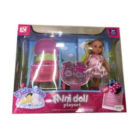 Кукла Mini doll коляска (арт. JDI0414106), 25х20х10см