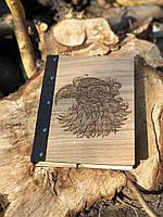 Блокнот дуб кожа А5 80л Орел, LaserBox