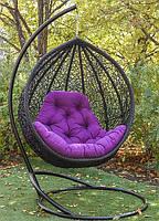 Подвесное кресло кокон со стойкой Веста разные цвета