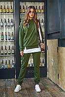 Красивый модный стильный спортивный костюм женский 2020  цвет: хаки, размер: L, M, S, XL