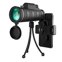 12X50МонокулярHDBAK4Наблюдениеза птицами Телескоп с зажимом для телефона Штатив На открытом воздухе Кемпинг -1TopShop