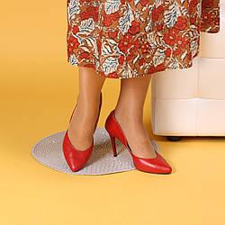 Женские классические кожаные красные туфли на шпильке 9 см. Натуральная кожа, замша. Цвет любой.