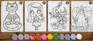 """Набор для детского творчества """"Раскраска цветным песком"""" Colorit для девочки"""