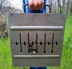 Мангал чемодан. Раскладной мангал на 6 шампуров. Переносной мангал из металла толщиной 2 мм. Розкладний мангал