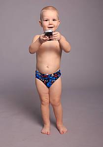 Оптом детские купальные трусы для мальчиков (арт. 611)  28-36р. синие