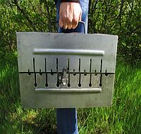 Мангал чемодан. Раскладной мангал на 8 шампуров. Переносной мангал из металла толщиной 2 мм. Розкладний мангал
