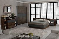 Спальный гарнитур Вирджиния 160x200 таксус/графит