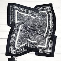 Шелковый платок Фиона, 90*90 см, графитовый