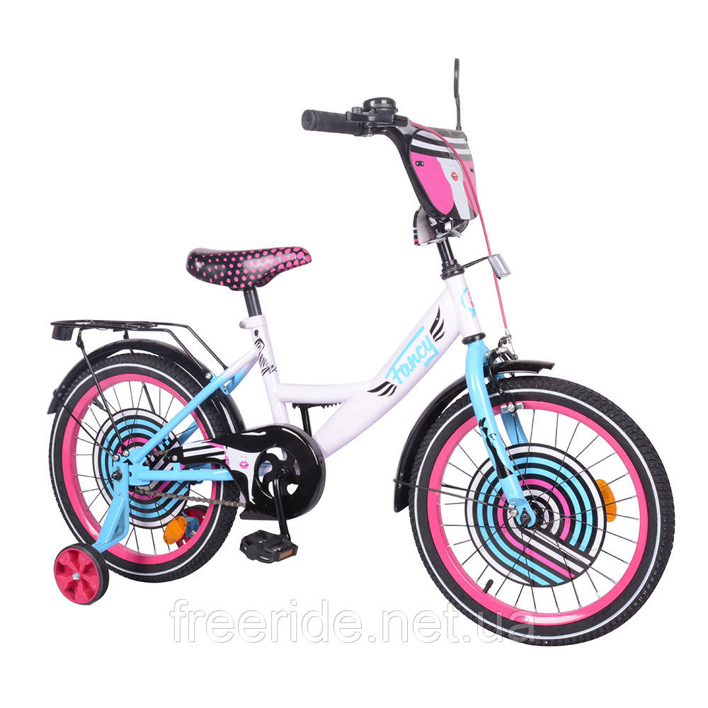Детский велосипед TILLY Fancy 18 T-218214 white+pink+blue