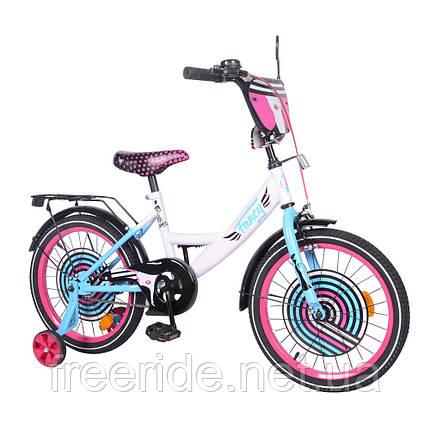 Детский велосипед TILLY Fancy 18 T-218214 white+pink+blue, фото 2