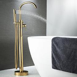 Напольный смеситель для ванной Sonic RD-261 золотой (глянцевый)