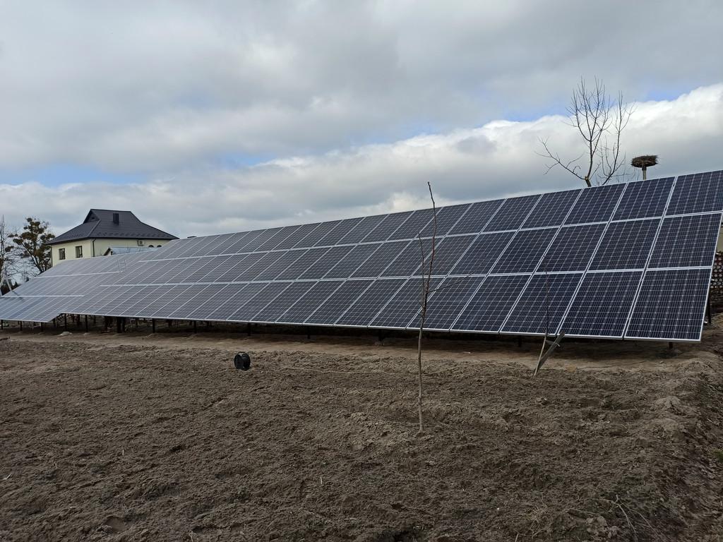 Сонячна електростанція потужність 30 кВт під зелений тариф