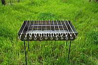 Мангал чемодан. Раскладной мангал на 12 шампуров Переносной мангал из металла толщиной 2 мм. Розкладний мангал