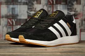 Кроссовки женские Adidas Iniki, черные / подростковые Адидас Иники (Топ реплика ААА+)
