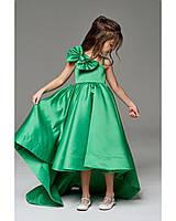 Праздничное платье для девочки, изумрудное