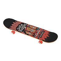 Скейт 3108YS-1, двухсторонний окрас,наждак, колёса PU