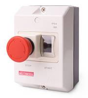 "Корпус пластиковый e.mp.pro.box IP54 с кнопкой ""Стоп"""