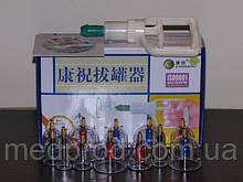 Банки вакуумные KANGZHU с насосом комплект: 12-ть банок и 6-ть магнитов с информационным диском