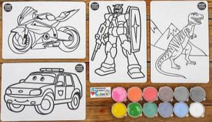 """Набор для детского творчества """"Раскраска цветным песком"""" Colorit для мальчика"""