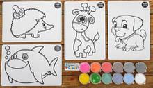 """Набор для детского творчества """"Раскраска цветным песком"""" Colorit для самых маленьких"""