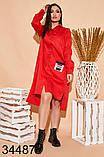 Весеннее женское платье-рубашка на кнопках р.50-52, 54-56, 58-60, 62-64, фото 3