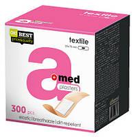 """Пластир медичний A-Med """"Textile"""" з текстильного матеріалу, розмір 19х76мм, 300 шт"""