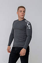 Рашгард мужской с длинным рукавом Totalfit RMK4-C9 3XL темно-серый