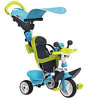 Детский трехколесный велосипед коляска 3в1 Baby Driver Smoby 741200 с ручкой, корзиной для детей, фото 1