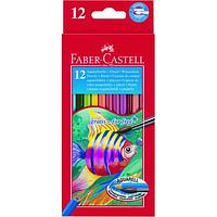 Карандаши акварельные цветные Faber Castell 12 цветов шестигранные