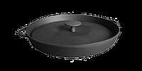 Чугунная сковорода гриль с прессом d=260 мм, h=40 мм
