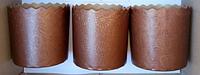 Форма для пасхи бумажная, форма для выпечки кулича 110х85 мм, 300 грамм (Италия), набор 50 шт