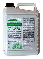 Алосепт 5л антисептик дезинфектант дезинфекция маникюрных инструментов, поверхностей и ИМН