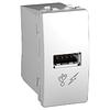 Розетка USB. 5V DC 1A. (1 модуль) белая Schneider Electric - Unica (Шнейдер Электрик Уника  MGU3.428.18)