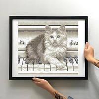 Картина Котенок на пианино ЗПТ-004