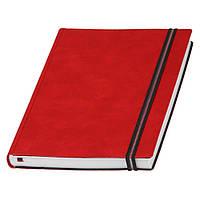 Ежедневник Дакар Премиум Эластик недатированный, кремовый блок, красный