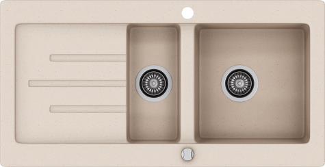 Кухонная мойка KERNAU KGS V 60 1,5B1D SAND
