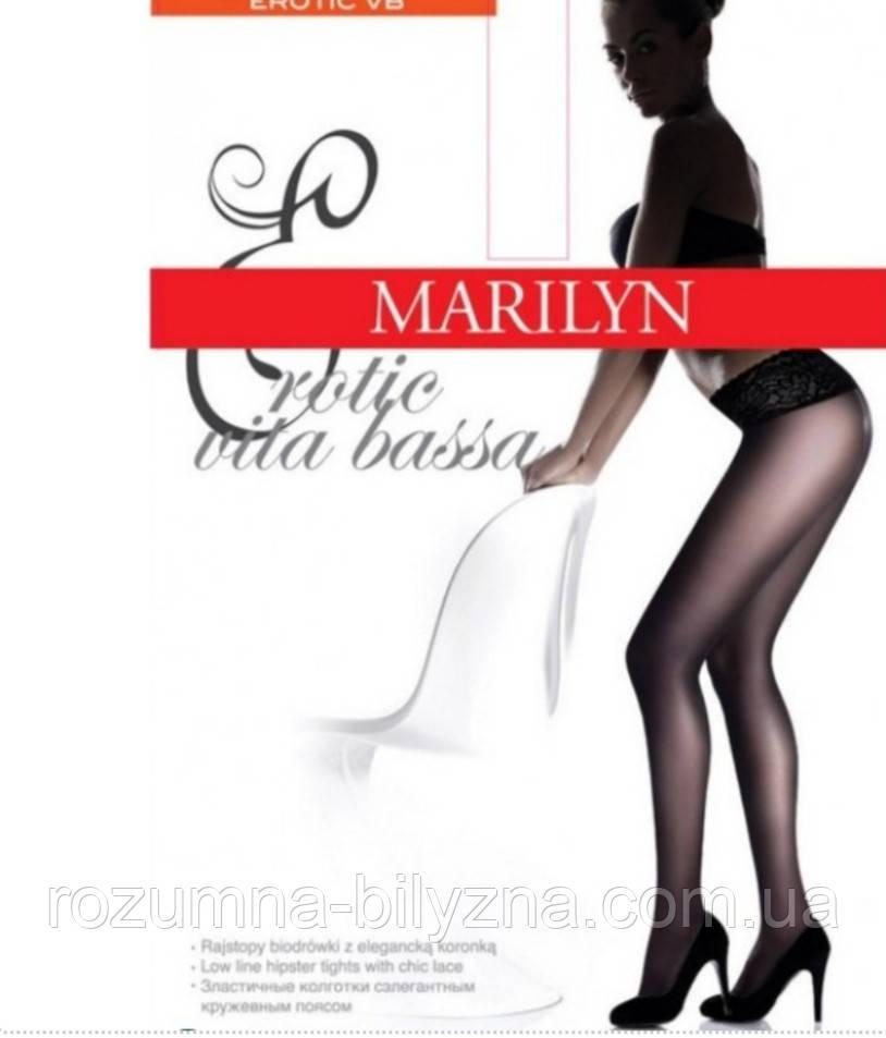 Колготи жіночі на силіконі в бежевому кольорі ТM Marilyn розмір: 2. 4. 5