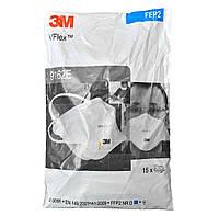 Респиратор маска 3M FFP2 с клапаном (9162e) 15шт