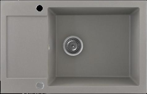 Кухонная мойка KERNAU KGS H 6078 1B1D GREY METALLIC