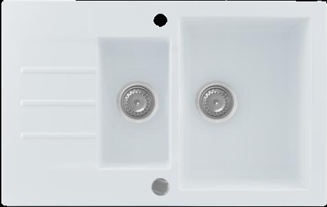 Кухонная мойка KERNAU KGS A 6079 1,5B1D PURE WHITE