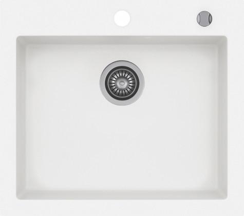 Кухонная мойка KERNAU KGS H 60 1B PURE WHITE